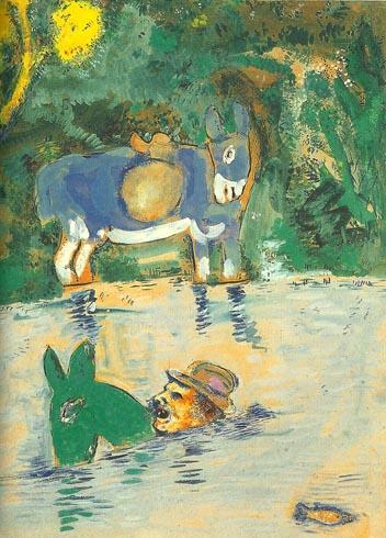 L'asino carico di spugne e l'asino carico di sale, Marc Chagall