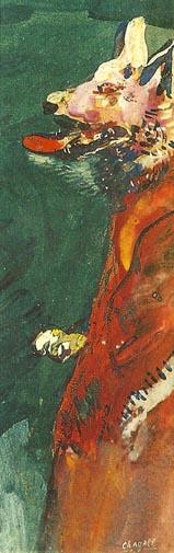 Il lupo travestito da pastore, Marc Chagall