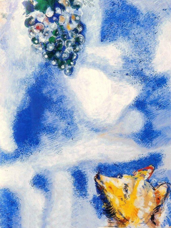 La volpe e l'uva, Marc Chagall