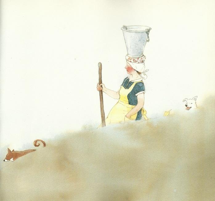 Lisbeth Zwerger - La mungitrice e il secchio, Esopo - favole