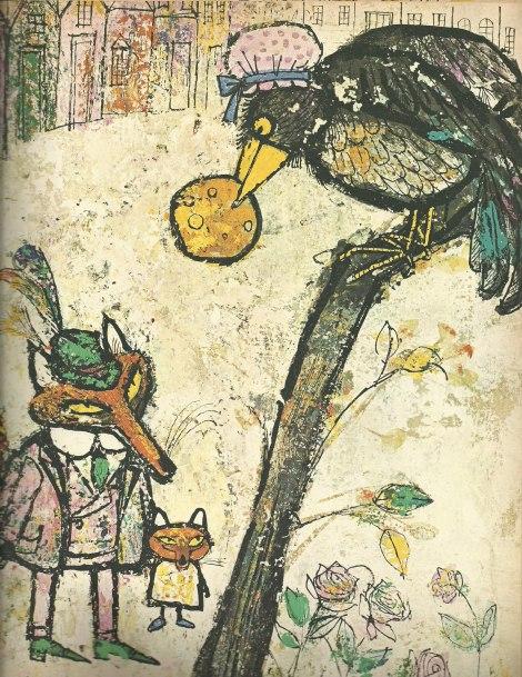 A. e M. Provensen - la volpe e il corvo, Esopo