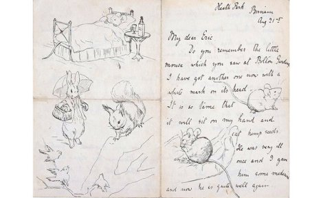 PAgine di una lettera scritta da Beatrix Potter a Eric Moore (21 agosto 1892). Credit: Cotsen Children's Library, Department of Rare Books and Special Collections , Princeton University Library
