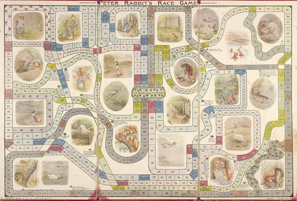 gioco da tavolo del 1917. Credit: Cotsen Children's Library, Department of Rare Books and Special Collections, Princeton University Library
