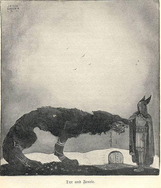 Tyr e Fenrir - John Bauer 1911