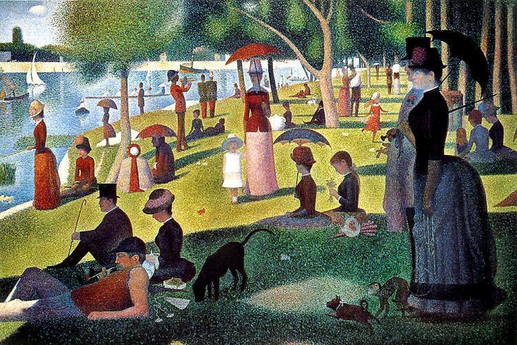 Un dimanche après-midi à l'Île de la Grande Jatte - Georges Seurat