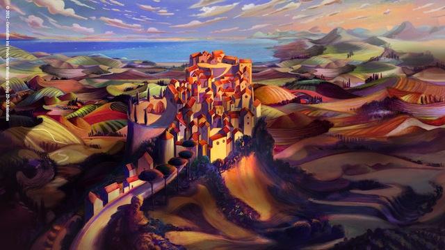 Illustrazione di Lorenzo Mattotti per Pinocchio, un film di Enzo D'Alò. 2013