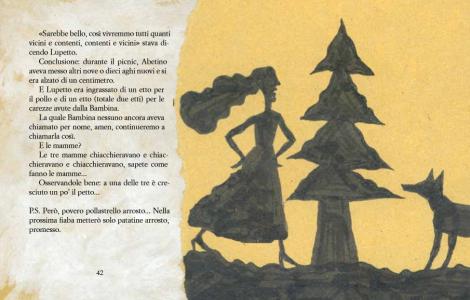 il lupo, l'albero e la bambina2