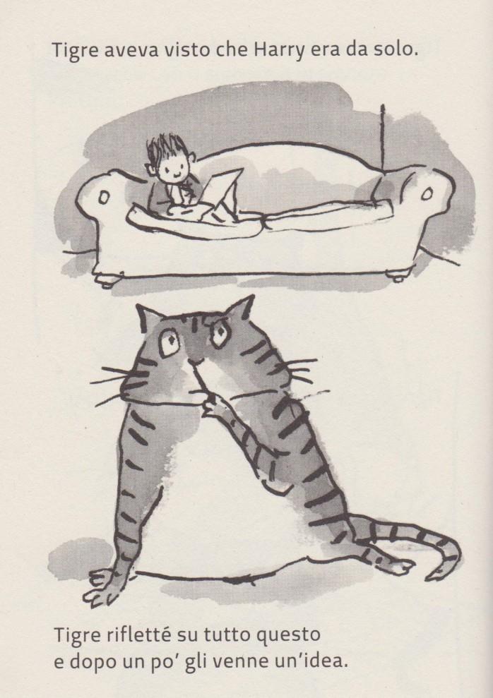 Ricordati del gatto!, di Michael Rosen, illustrato da Tony Ross, edito da Feltrinelli Kids