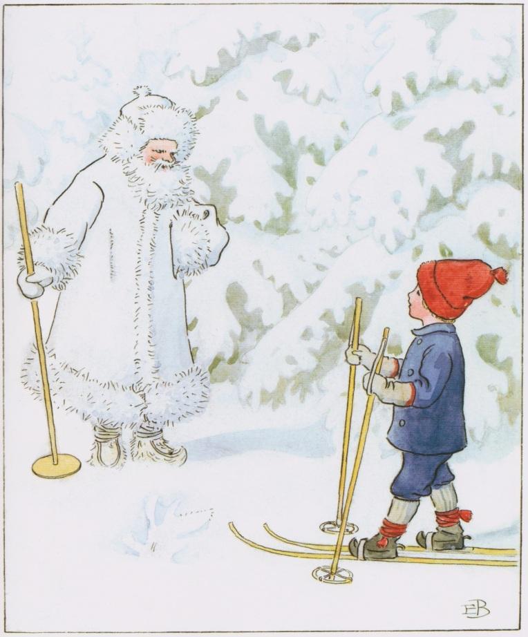 <em>Olly va a sciare</em>, Elsa Beskow, LO editions
