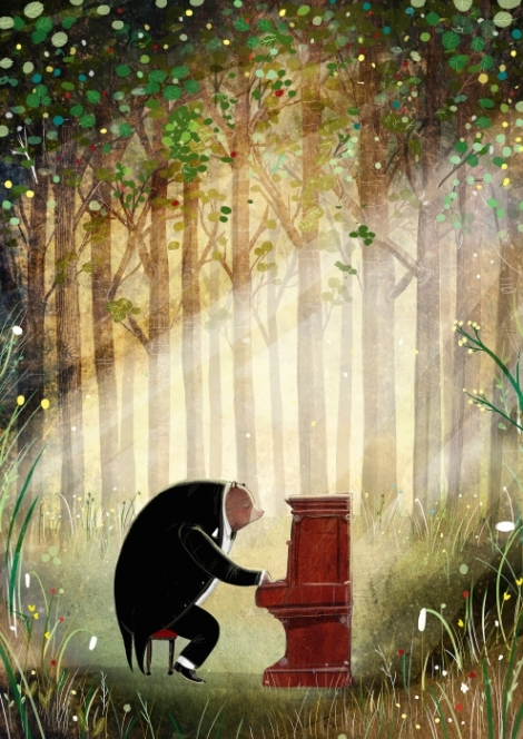 L'Orso e il piano, David Litchfield - 2017 Zoolibri