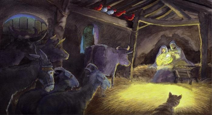 <em>Il gatto nella mangiatoia</em>, Michael Foreman - 2012, Camelozampa