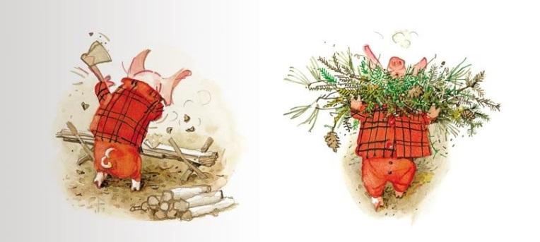 Natale a casa con Toto e Pepe, di Holly Hobbie - 2017 Fatatrac