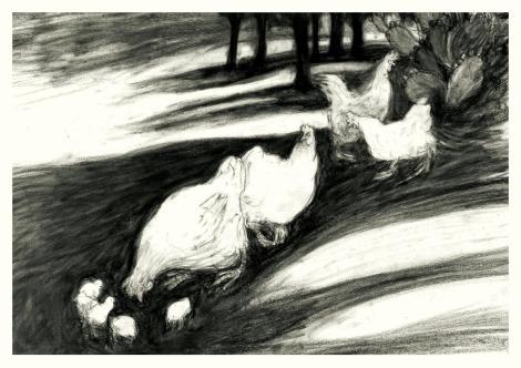C'erano tutti nella grande aia, di Nino De Vita, illustrazioni di Armin Greder - 2018 Orecchio Acerbo