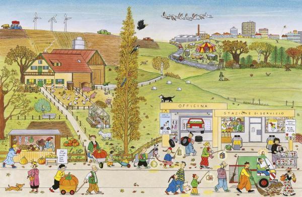 <em>Autunno. I libri delle stagioni</em>, di Rotraut Susanne Berner - 2018, Topipittori