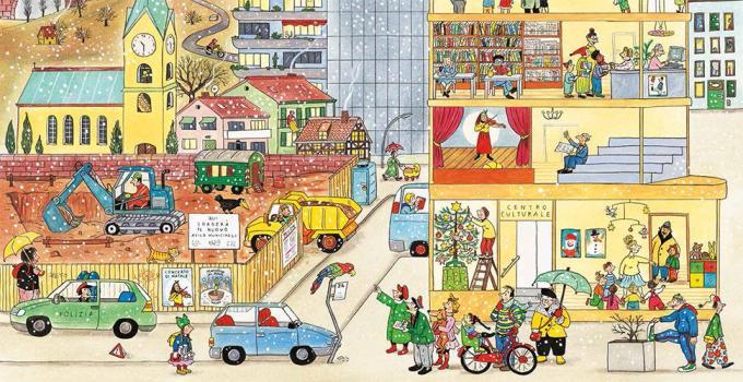 <em>Inverno. I libri delle stagioni</em>, di Rotraut Susanne Berner - 2018, Topipittori