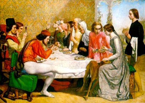 J. E. Millais, Isabella, 1848-49, Liverpool Walker Art Gallery.
