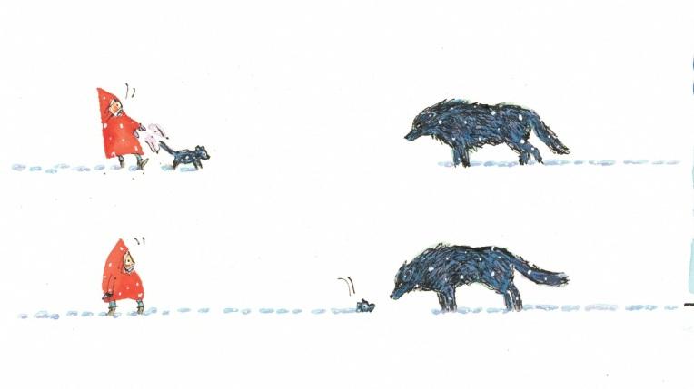Un lupo nella neve, di Matthew Cordell - 2018, edizioni Clichy
