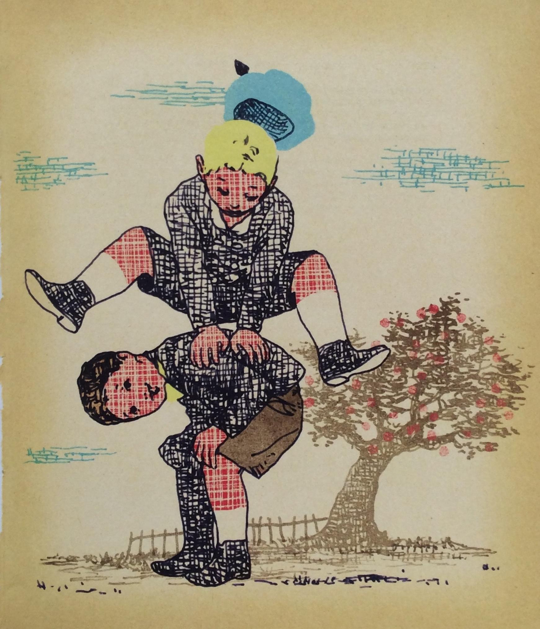 Ein Apfelbaum im Bauch, Les éditions de la courte échelle, Canada, Simon Boulerice, illustrato da Gerard DuBois - Diogenes